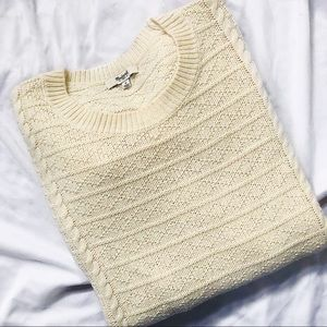 Madewell Cream Cable Knit Sweater